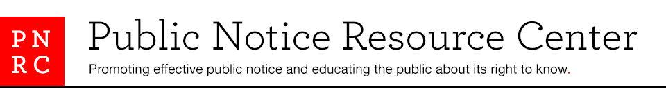 Public Notice Resource Center